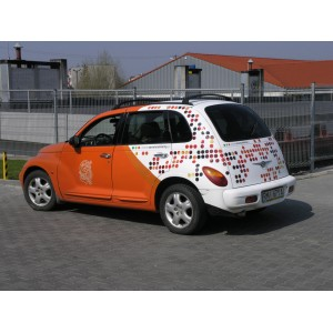 Reklama na samochód osobowy